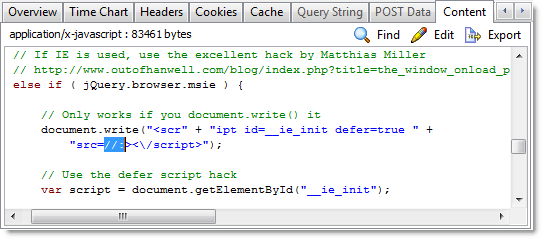 IE Defer Script Hack