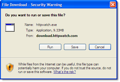 IE File Save Dialog