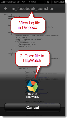 Open Log File in Dropbox