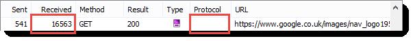 HTTPS Image Response Size