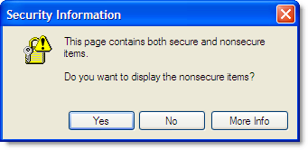 Non secure items warning in IE