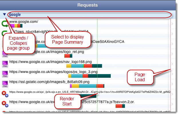 Page Events in HttpWatch App