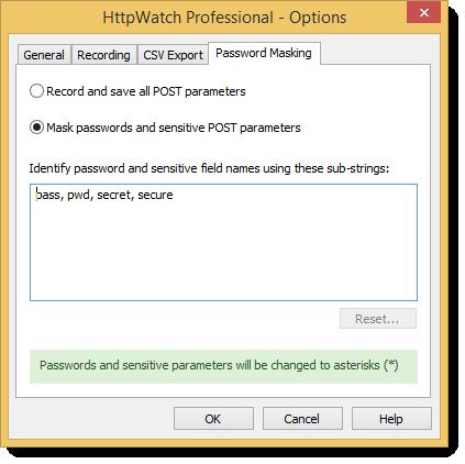Password Masking Options